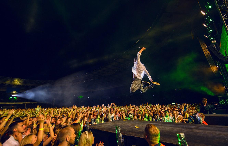 Фото обои Концерт, Rock, Рок, Сцена, Океан Эльзи, Святослав Вакарчук