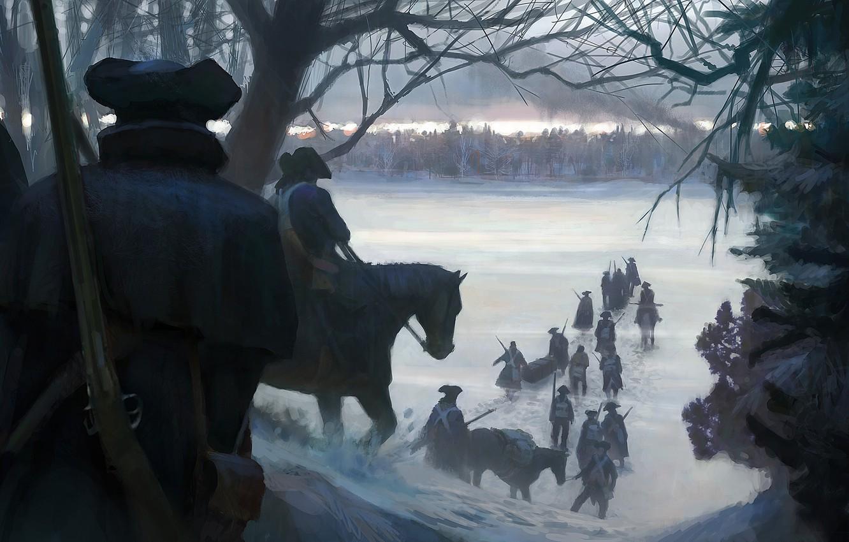 Фото обои Игра, Ubisoft, Game, Assassin's Creed III, Assassin's Creed 3