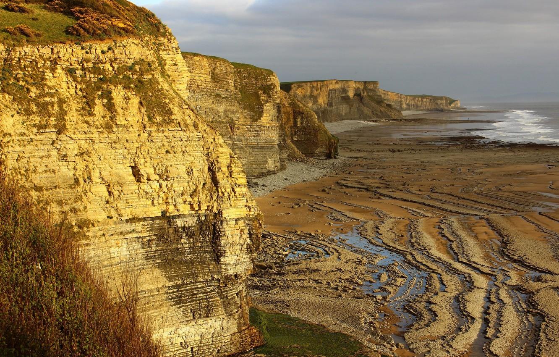 Фото обои природа, скала, берег