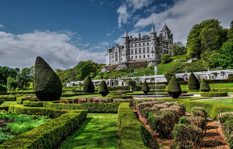 Обои scotland, Шотландия, sutherland, Dunrobin, замок. Города foto 11