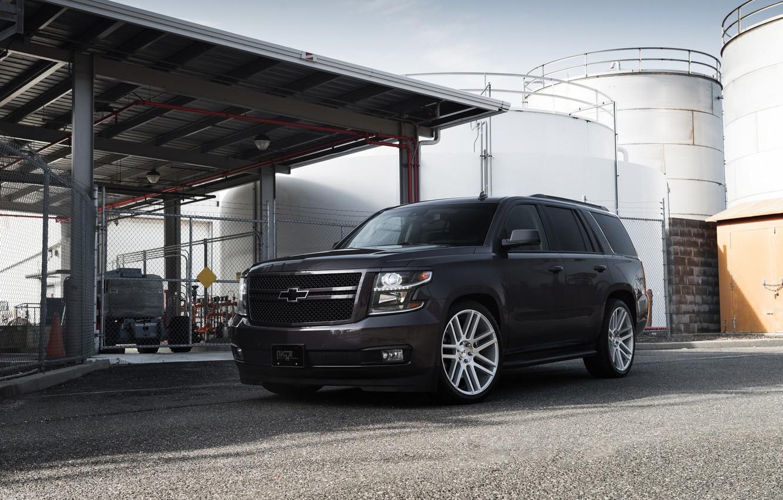 Фото обои Chevrolet, Gray, Tahoe, America, LTZ