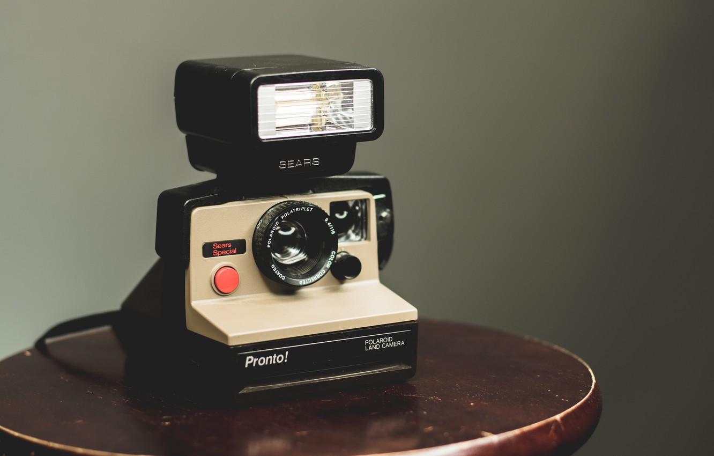 Фото обои фото, фон, вспышка, камера, camera, background, flash, фотокамера, полароид, Polaroid, a photo, pronto, пронто