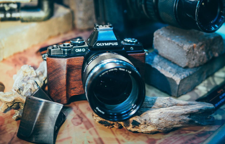 Фото обои дизайн, стиль, фон, фотоаппарат, объектив, Olympus
