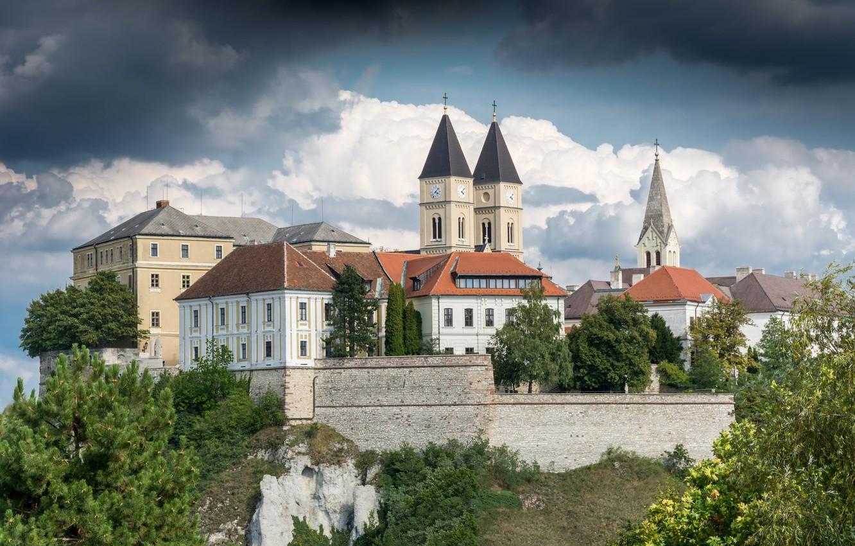 Фото обои замок, Венгрия, Hungary, Веспрем, Veszprem Castle, Замок Веспрем, Veszprém