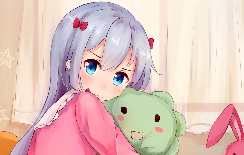 Фото обои kawaii, bear, rabbit, anime, pretty, manga, japanese, oriental, sugoi, bishojo, kuma, EroManga-Sensei, mussune, Sagiri Izumi, …
