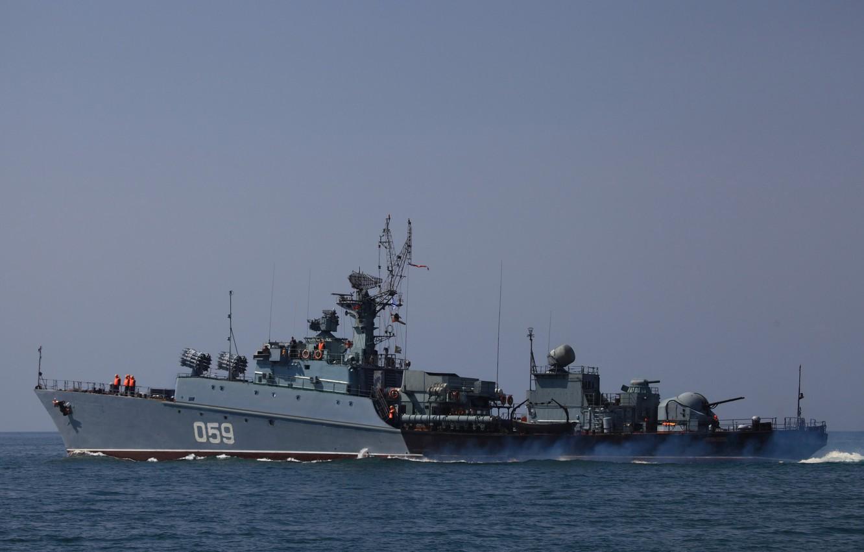 Фото обои корабль, ВМФ, противолодочный, малый, Черное море, проект 1124,
