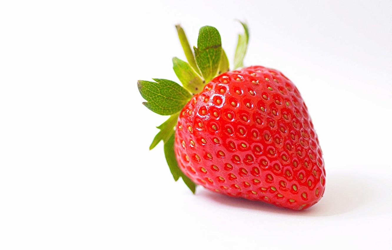 Фото обои макро, земляника, клубника, ягода