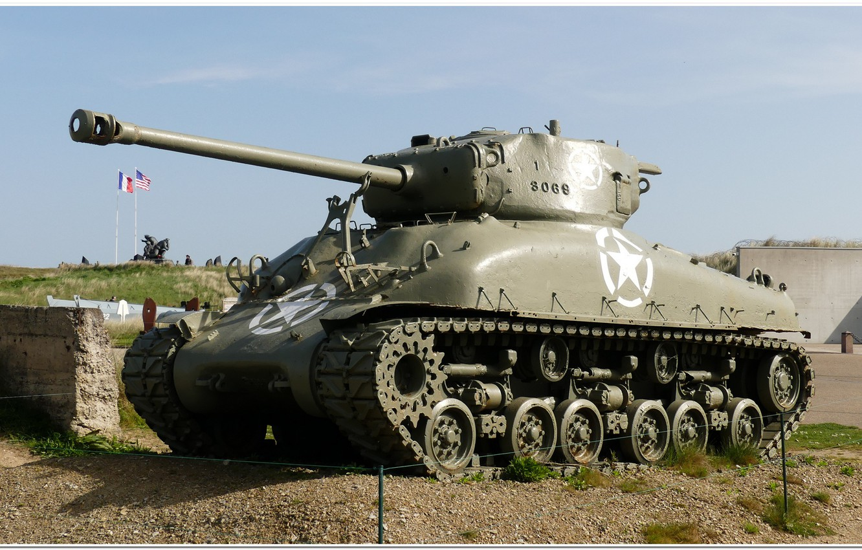 Фото обои ww2, sherman tank, normandie, ww2 tank