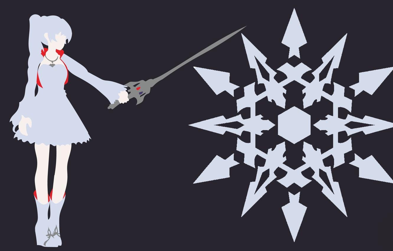 Фото обои kawaii, sword, dress, anime, snow, pretty, ken, blade, bishojo, seifuku, Weiss Schnee, RWBY, japonese