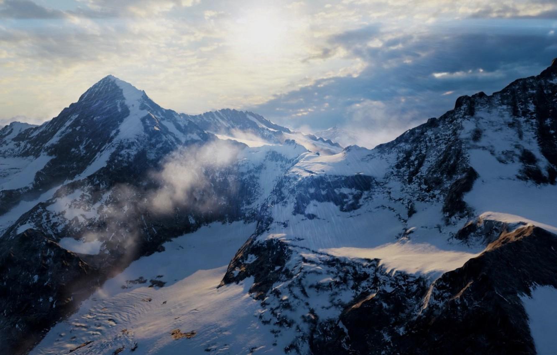 Фото обои горы, пейзаж nature, battlefied1
