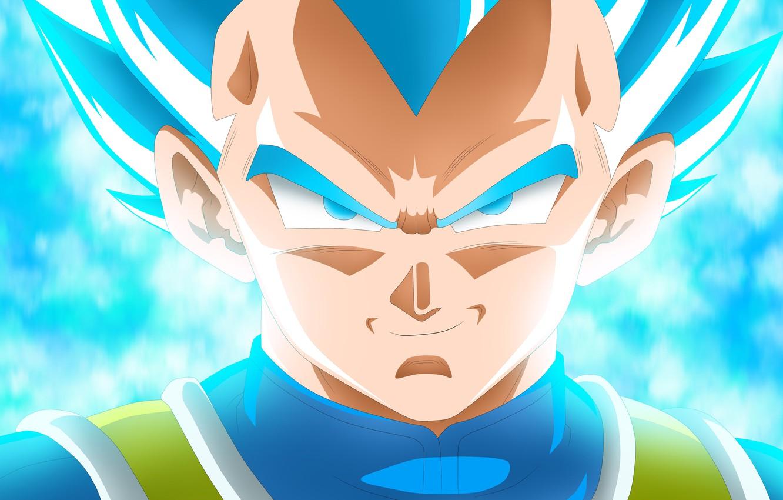 Фото обои Blue, Super Saiyan, Vegeta Dragon Ball