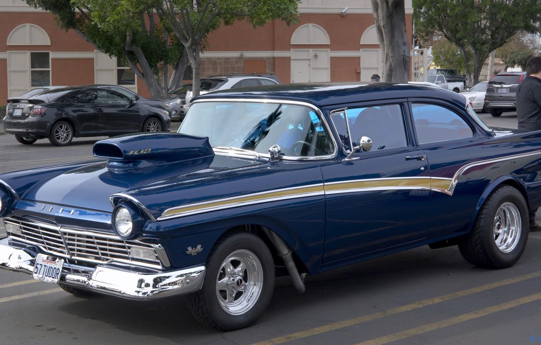 Фото обои ретро, классика, Ford Tudor, 1957 Ford Custom 300 Tudor