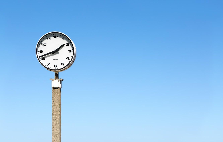 Фото обои небо, время, часы