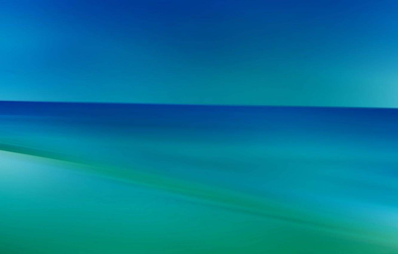 Фото обои море, линии, краски, горизонт