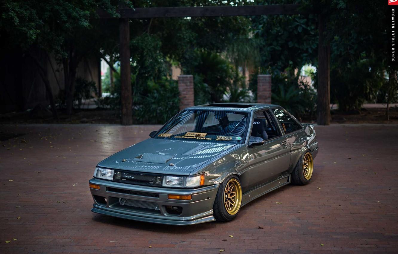 Фото обои Toyota, AE86, 1986, Corolla, front end conversion