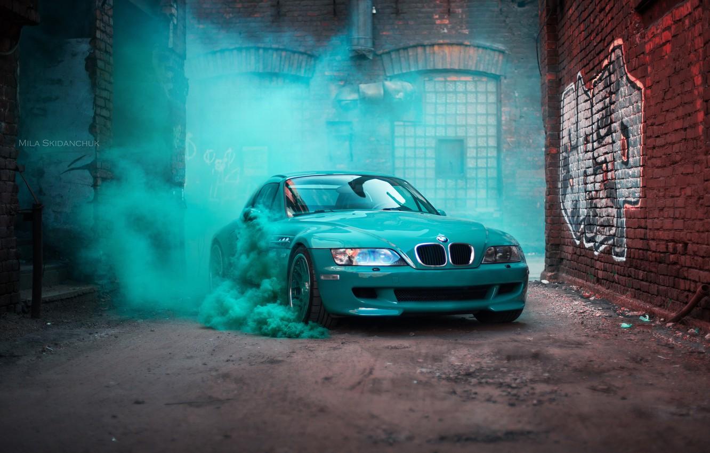 Фото обои car, машина, авто, мост, city, туман, гонка, bmw, бмв, тачка, спорт кар, автомобиль, need for ...
