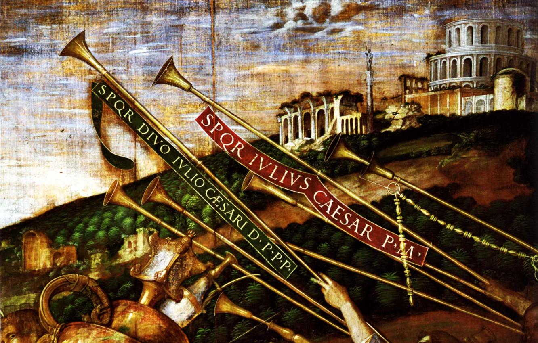 Фото обои Andrea Mantegna, Détail, Triomphes, LesPorteurs de Vases, 1490-1506, Toile IV des