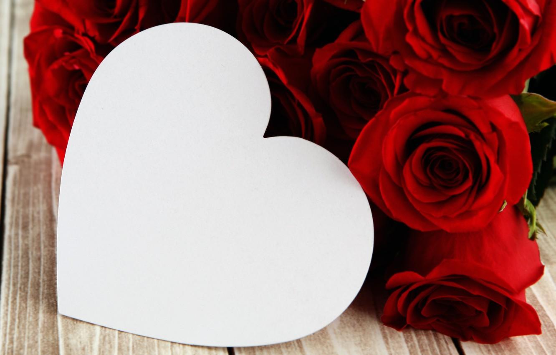 Фото обои сердце, red, love, romantic, hearts, valentine's day, gift, roses, красные розы