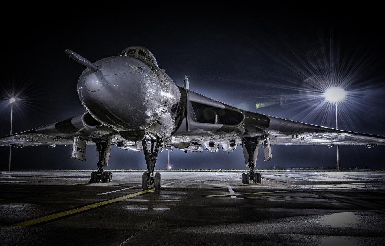 Обои боевой самолет, ночь, освещение, свет, крылатая машина. Авиация foto 6
