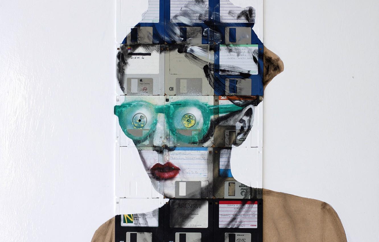 Фото обои Nick Gentry, LEFT TO MY OWN DEVICES, зелёные очки