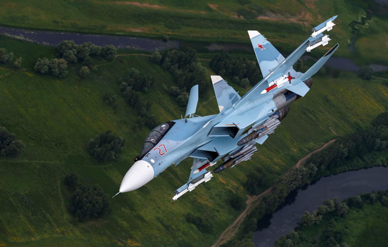 Обои Sukhoi, Su-30sm, истребитель, многоцелевой. Авиация foto 7