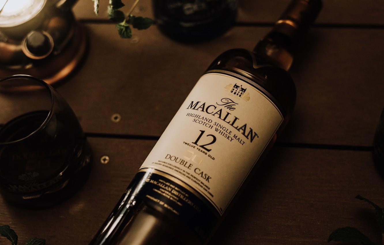 Фото обои бутылка, виски, whisky, macallan