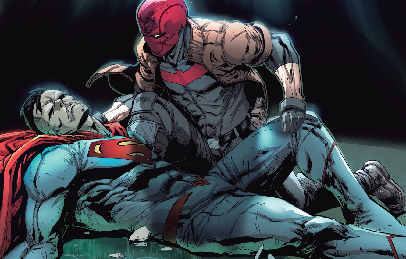 Фото обои Red Hood, Bizarro, Jason Todd, rebirth, DC, outlaws, red hood and the outlaws