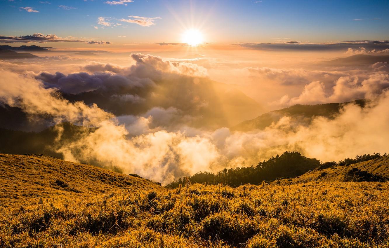Обои свет, Облака. Природа foto 10