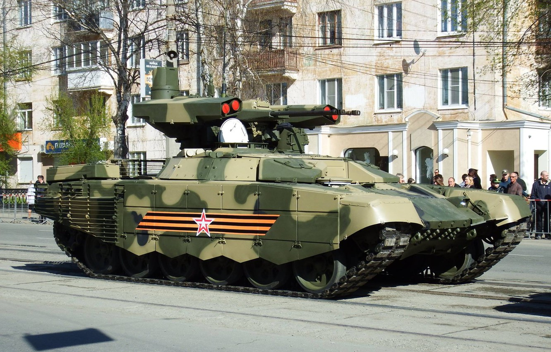 Фото обои Терминатор, Армия России, Парад победы, БМПТ-72