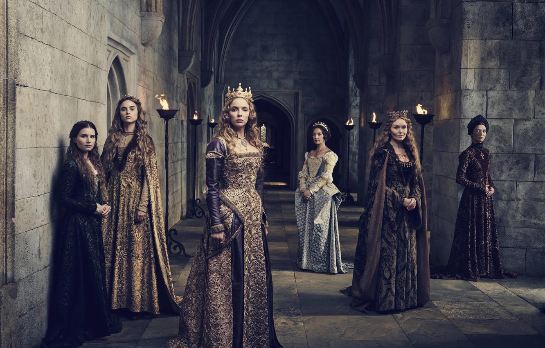 Фото обои girl, dress, woman, blonde, queen, tv series, The White Princess