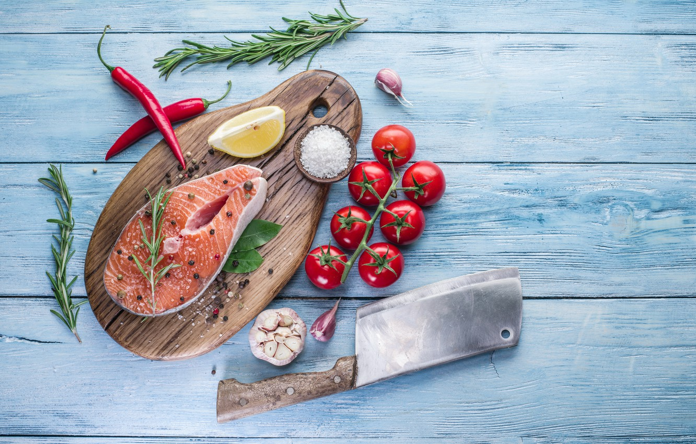 Обои spices, морепродукты, tomatoes, seafood, овощи, помидоры, fish, специи. Еда foto 19
