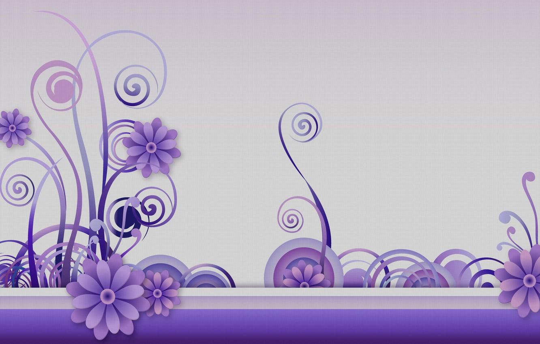 Фото обои цветы, фон, завитки, графика, текстура