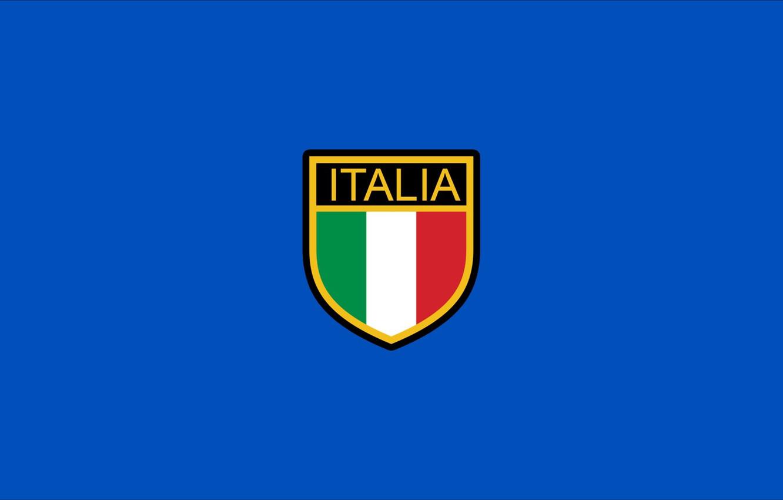 Фото обои logo, italia, style, blue, tricolor, national, italy, flag, italy national team, backgroud