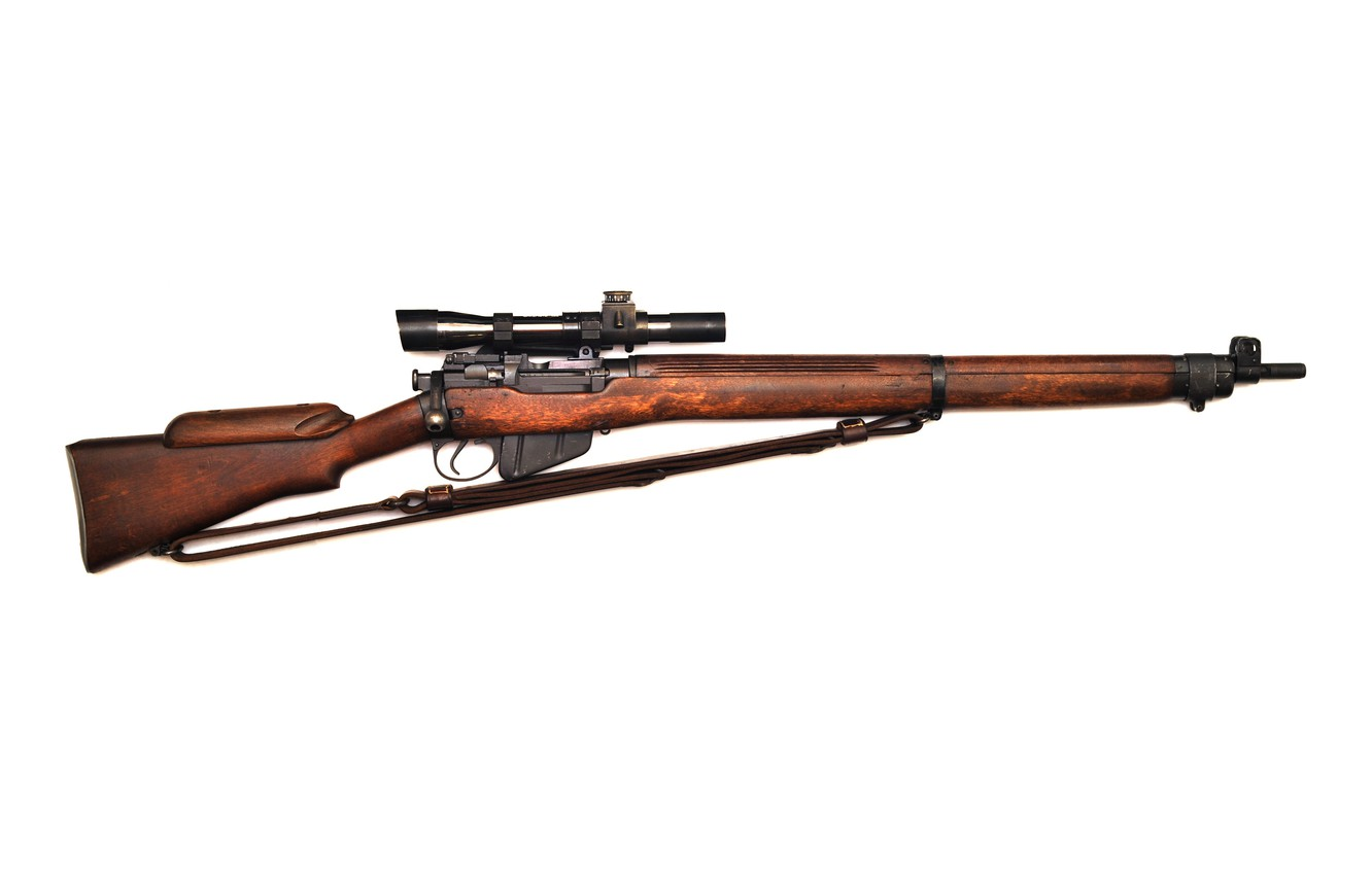 Фото обои винтовка, Lee-Enfield, No4T