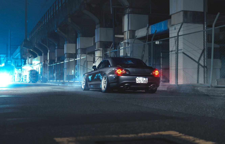 Фото обои Honda, Car, Night, S2000, Sport, Rear