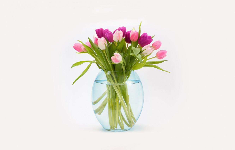 Фото обои букет, тюльпаны, ваза
