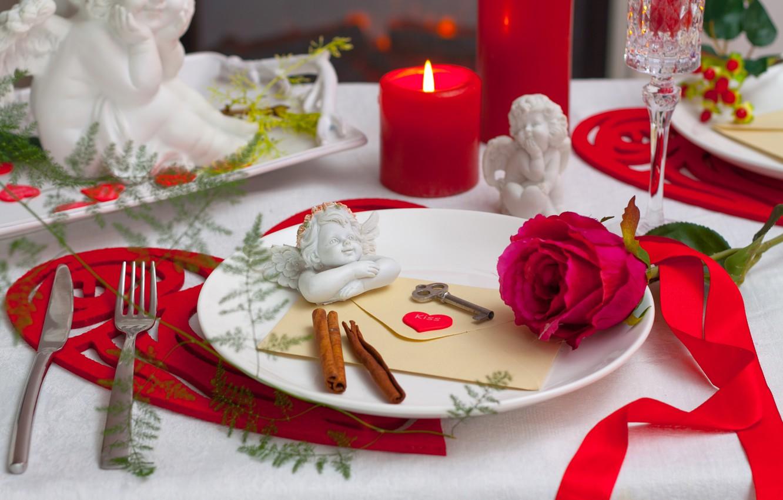 Обои тарелка, стол, свечи. Разное foto 16