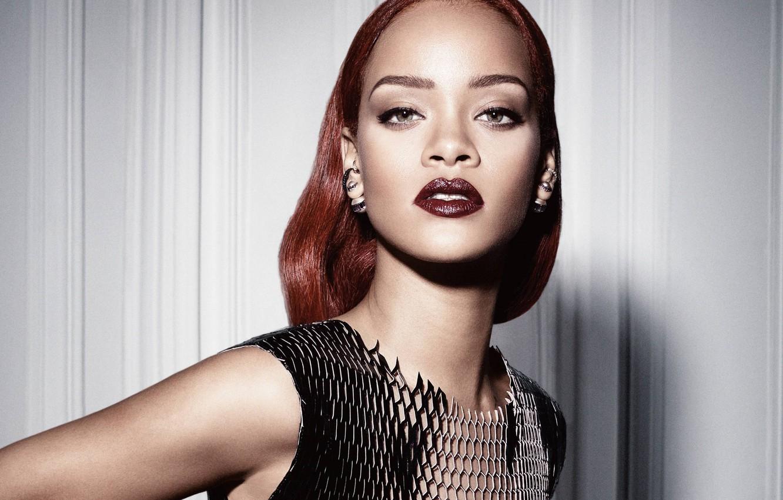 Фото обои портрет, певица, Rihanna