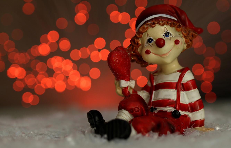 Фото обои макро, блики, праздник, игрушка, гном, фигурка