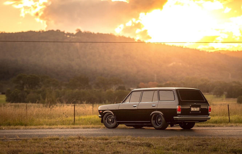 Фото обои Datsun, 1972, Wagon, 1200, B210