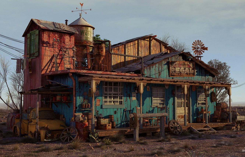Фото обои дом, Bondok Max, THE WEST
