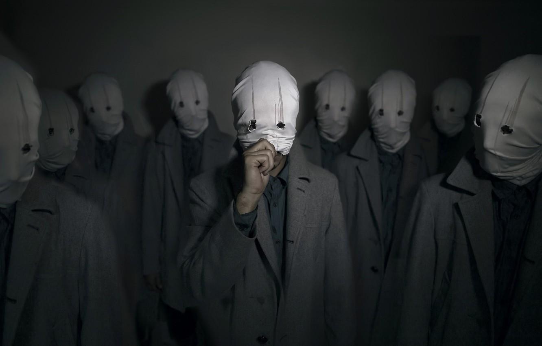 Фото обои фон, люди, маски