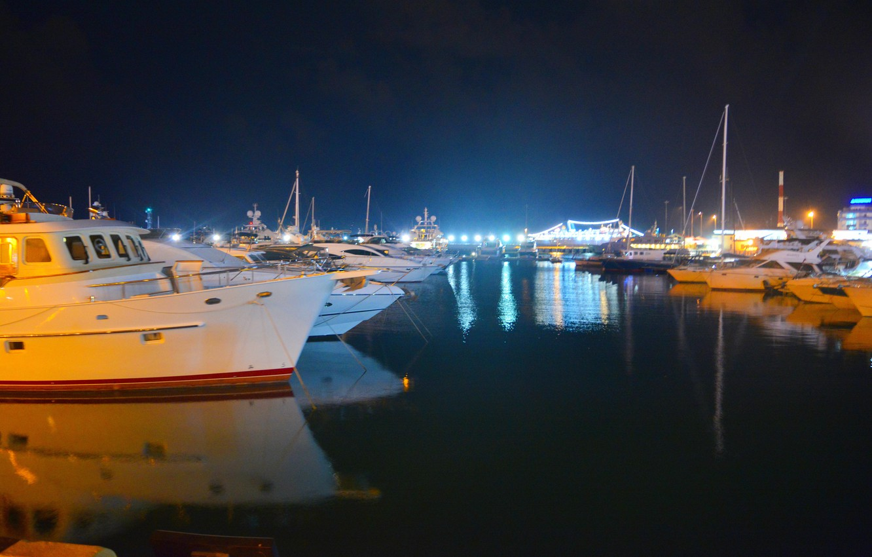 Обои ночь, яхты. Разное foto 9