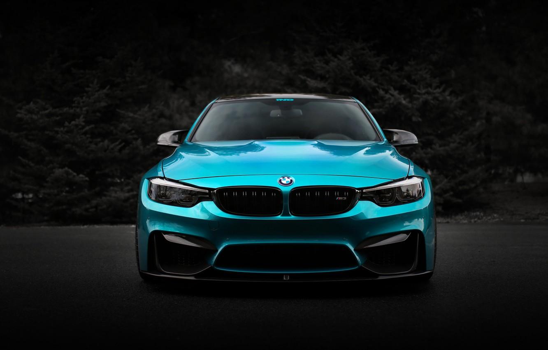 Фото обои BMW, Blue, Front, Shadow, Face, F80