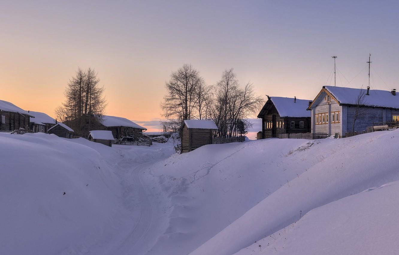 Фото обои деревня, Архангельская область, Мезенский район, Азаполье