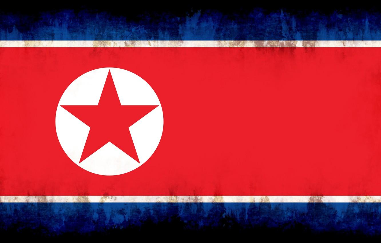 Фото обои flag, burn, north corea