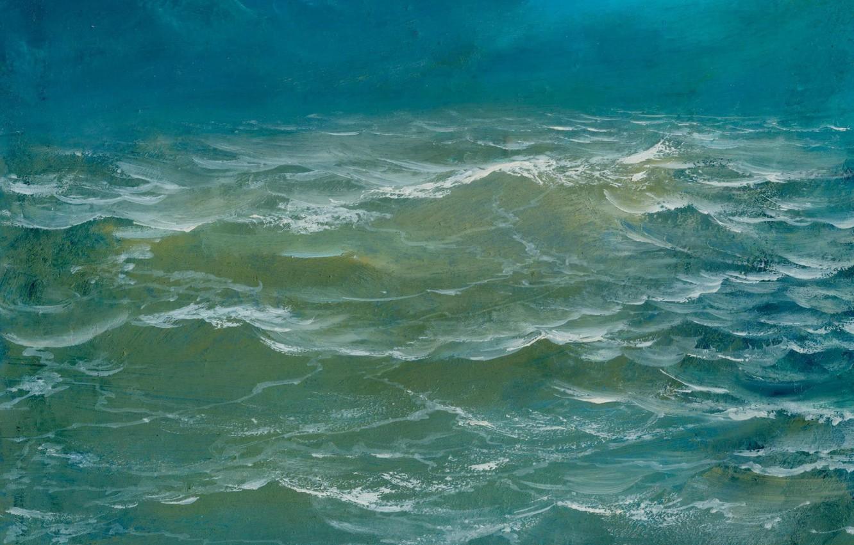 Фото обои волны, вода, пейзаж, Море, Айбек Бегалин, 2002г