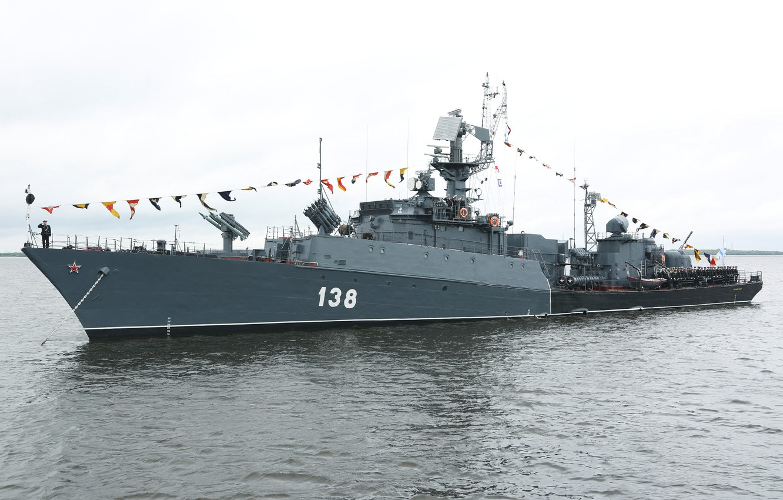 Фото обои корабль, противолодочный, малый, Парад, Северный Флот, День ВМФ, Нарьян Мар