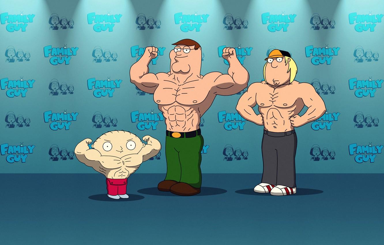 Фото обои мультфильм, питер, Family, крис, гриффины, stewie, стюи, familyguy, chrisgriffin, petergriffin