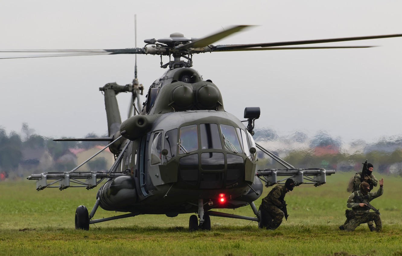 Фото обои вертолет, посадка, Mil Mi-171S